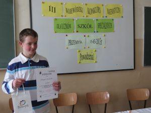 III Międzyszkolny Konkurs Matematyczny dla uczniów szkół Specjalnych